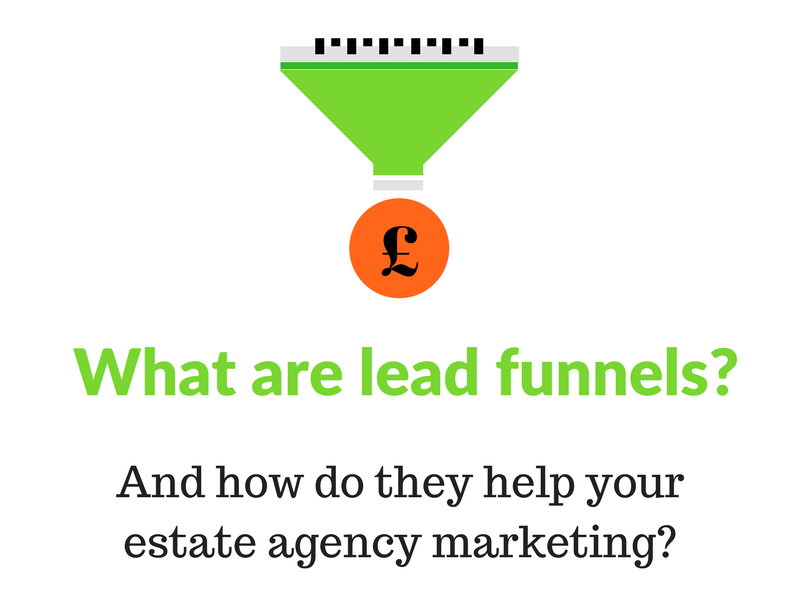 What are lead funnels for estate agency marketing?